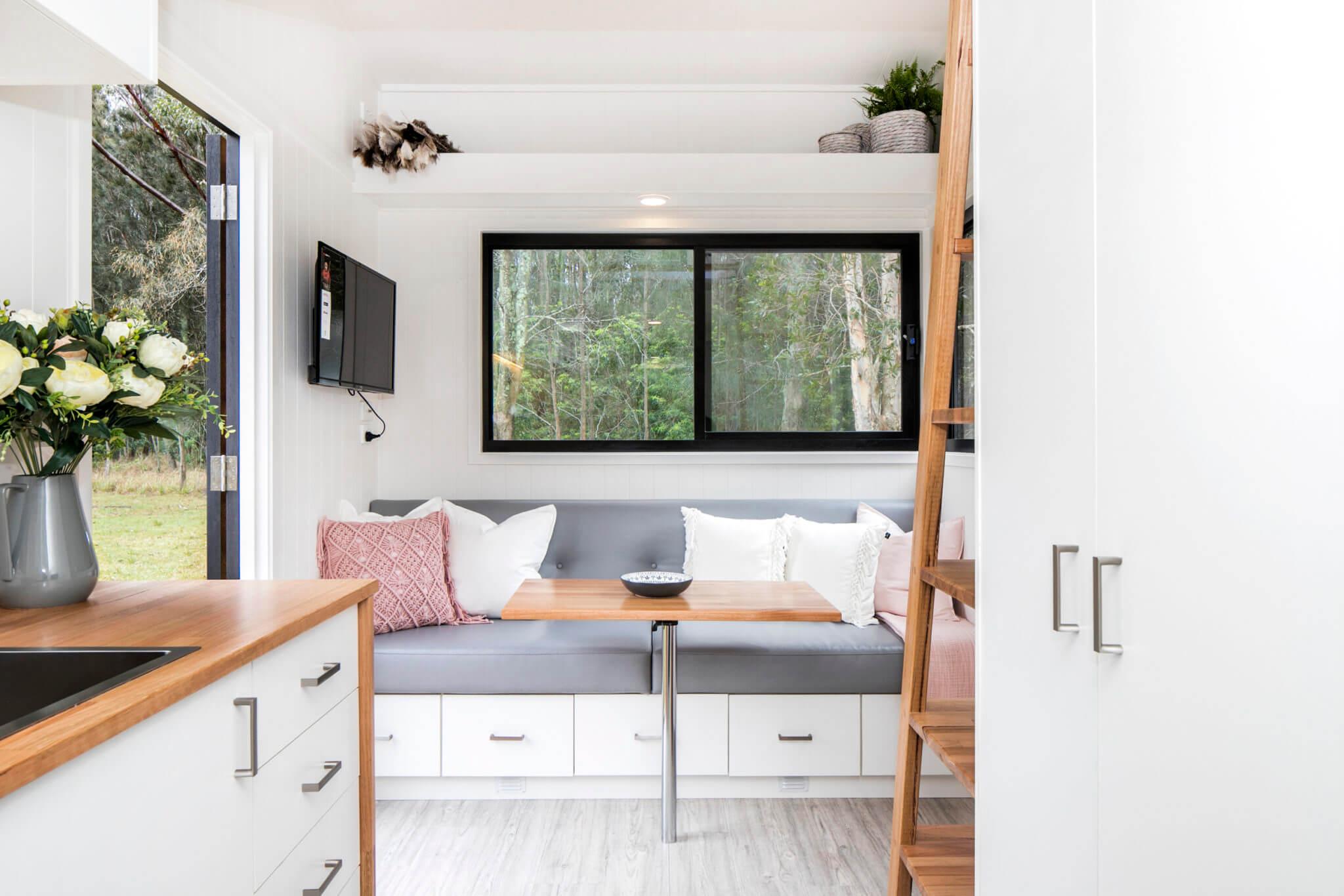 Lounge area tiny home